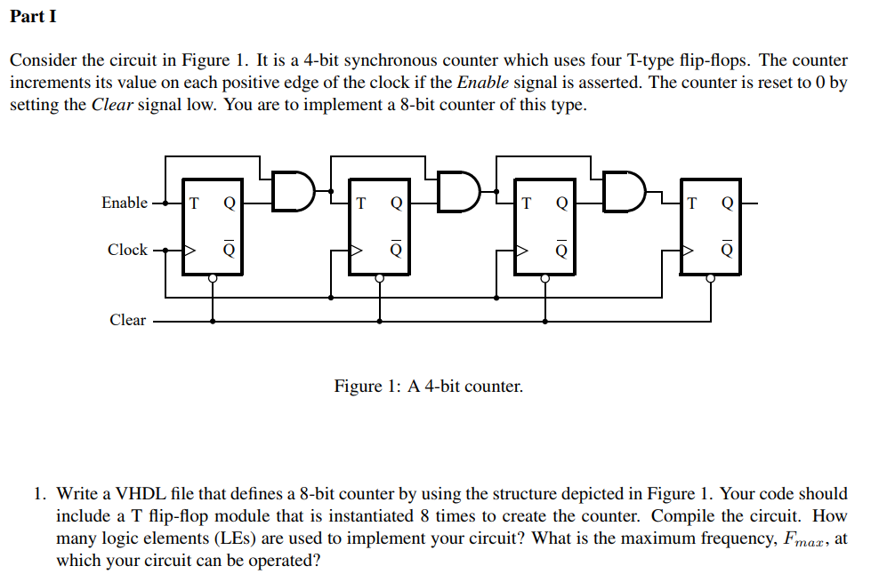 Solved: Part I Consider The Circuit In Figure 1. It Is A 4... | Chegg.comChegg