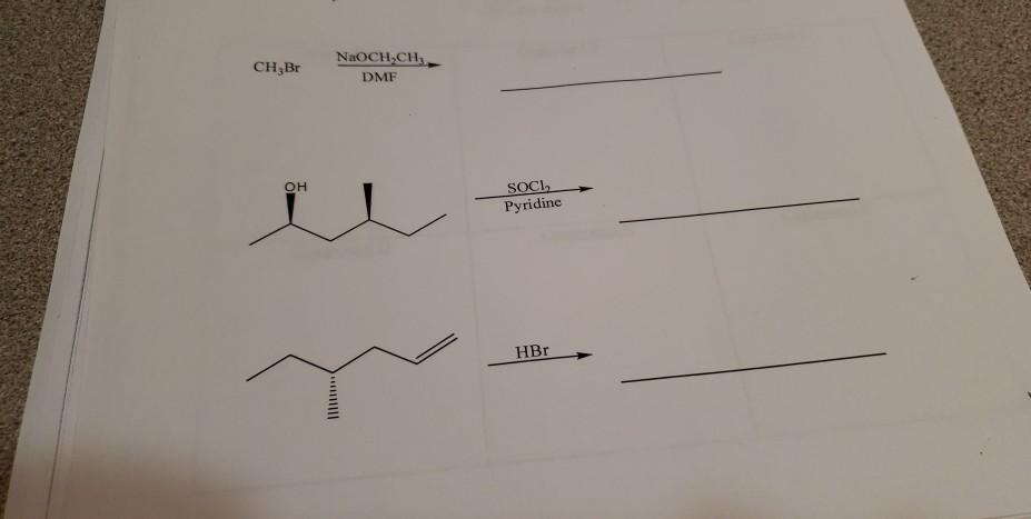 NaOCH CH DMF CH3Br он Pyridine