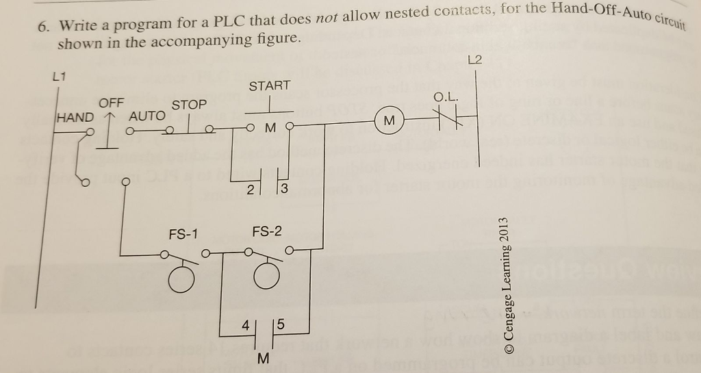 Solved: 6. Write A Program For A PLC That Does Not Allow N ... on electrical start stop circuit diagram, start stop control diagram, start stop bmw, start stop engine, push button start stop diagram, start stop system, motor start circuit diagram, simple start stop diagram, start stop motor control schematics, start stop service, start stop battery diagram, start stop station, start stop motor diagram, start stop timer,