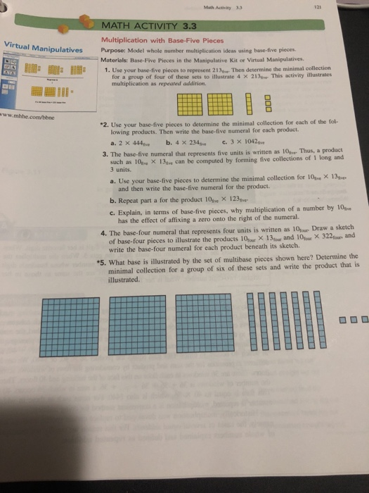 Solved: Math Activity 33 MATH ACTIVITY 3 3 Multiplication