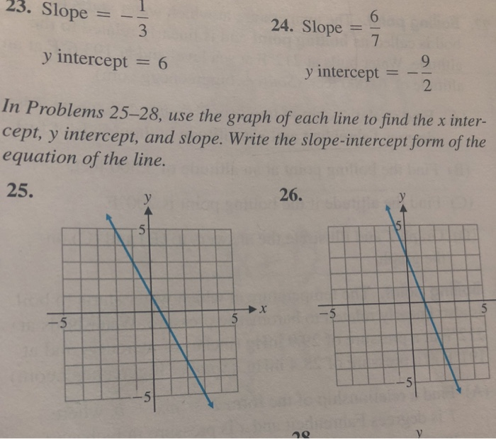 slope intercept form given slope and y intercept  Solved: 7. Slope = 7. Slope = 7 Y Intercept = 7 Y Interc ...