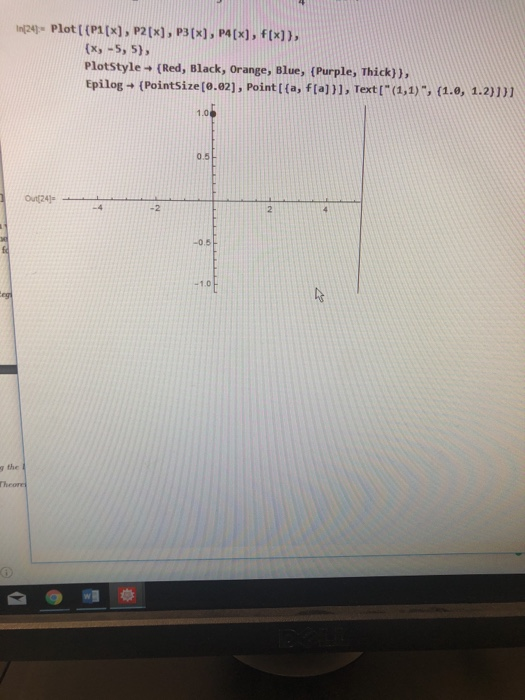 Solved: Mathematica Question : Taylor Polynomials Calculus
