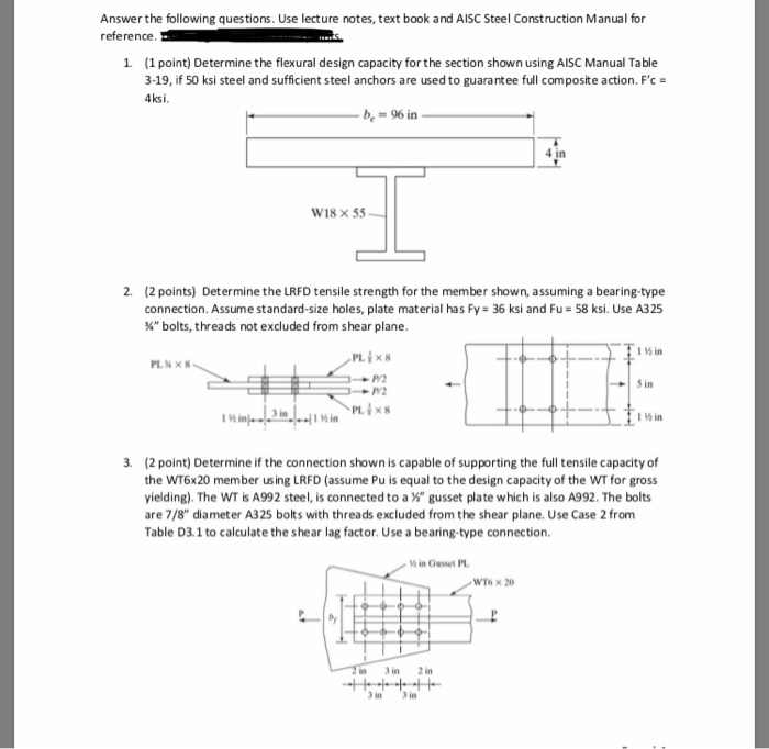 Solved: Answer The Following Questions  Use Lecture Notes