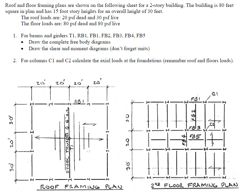 Solved  Roof And Floor Framing Plans Are Shown On The Foll