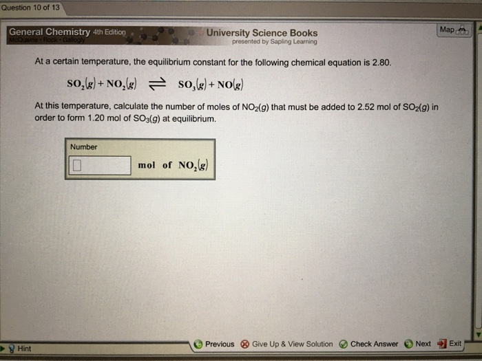 Chemistry archive march 15 2017 chegg question 10 of 13 map general chemistry 4th edition university science books presented by sapling learning fandeluxe Images