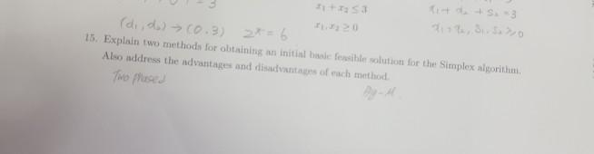 Solved: 15  Explain Two Methods For Obtaining An Initial B