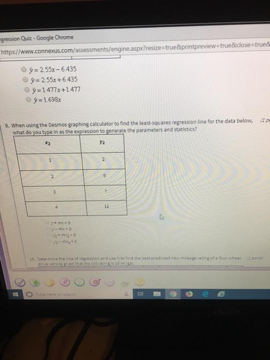 Solved: Gression Quiz - Google Chrome Https/www connexus c