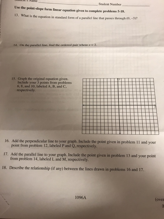 Solved Use The Point Slope Form Linear Equation Given To