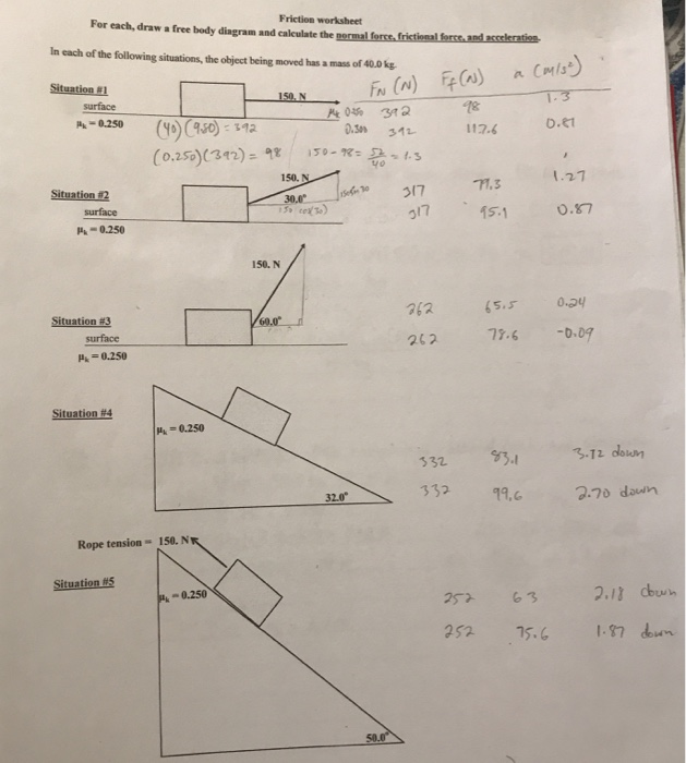 Solved For Each Draw A Free Body Diagram And Caleulate T Chegg Com