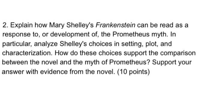 frankenstein mary shelley questions and answers