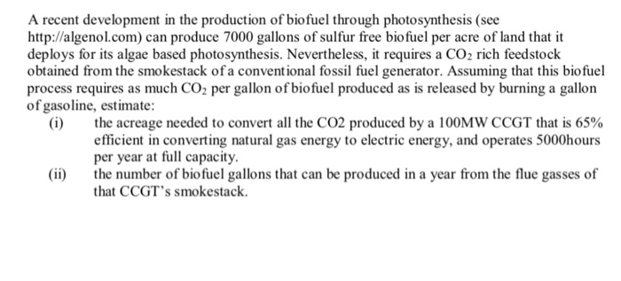 A Recent Development In The Production Of Biofuel