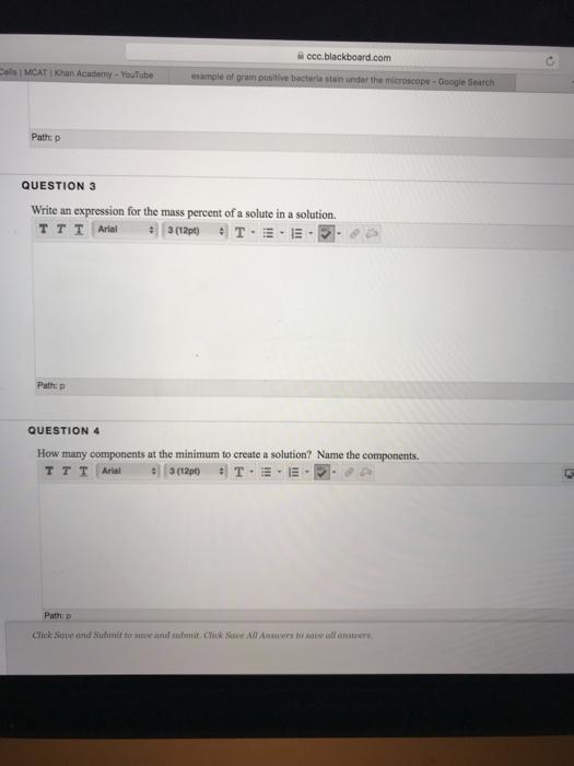 Solved: 슬 Ccc blackboard com Ells MCAT I Khan Academy- Yo