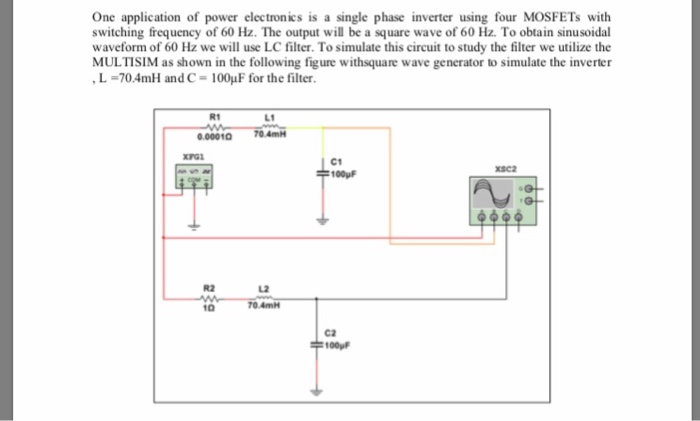 Solved: One Application Of Power Electronics Is A Single P