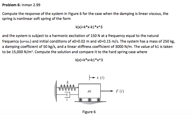 Solved: These Problems Are From Engineering Vibrations 4th