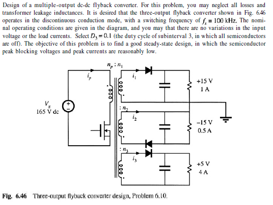 Design Of A Multiple-output De-de Flyback Converte