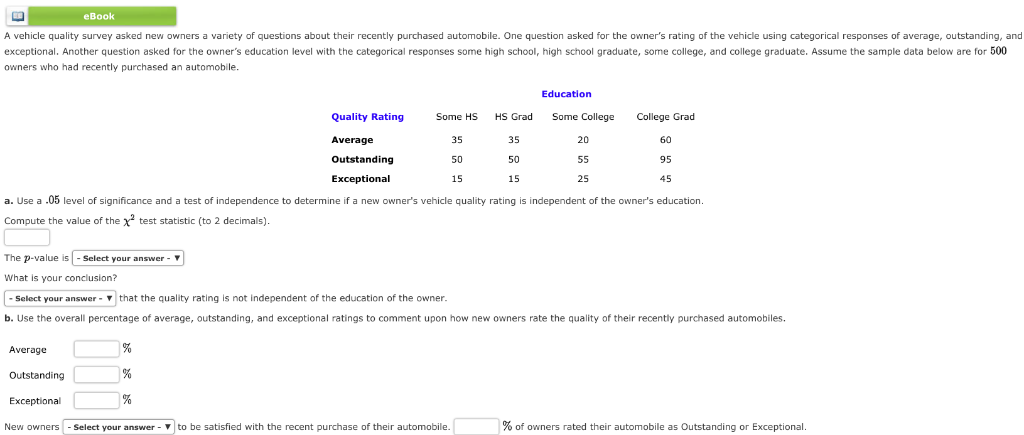 Ebook A Vehicle Quality Survey Asked New Owners Variety Of Questions About Their Recently Purchased