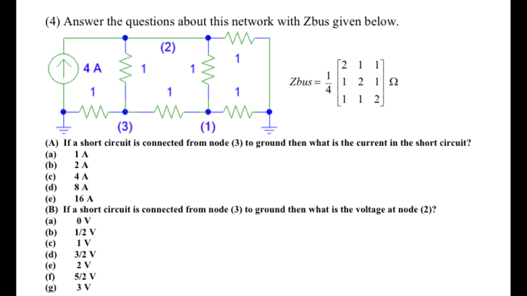 Solved: (4) Answer The Questions About This Network With Z