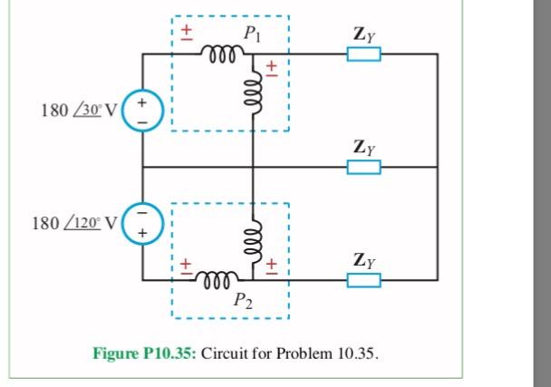 b7ef00b3965d Solved: 10.35 Determine The Power Readings Of The Two Watt ...