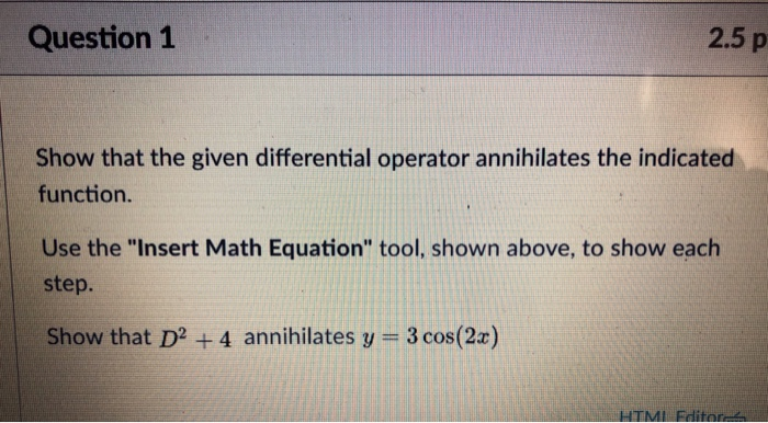 Solved: Question 1 2 5 P Show That The Given Differential