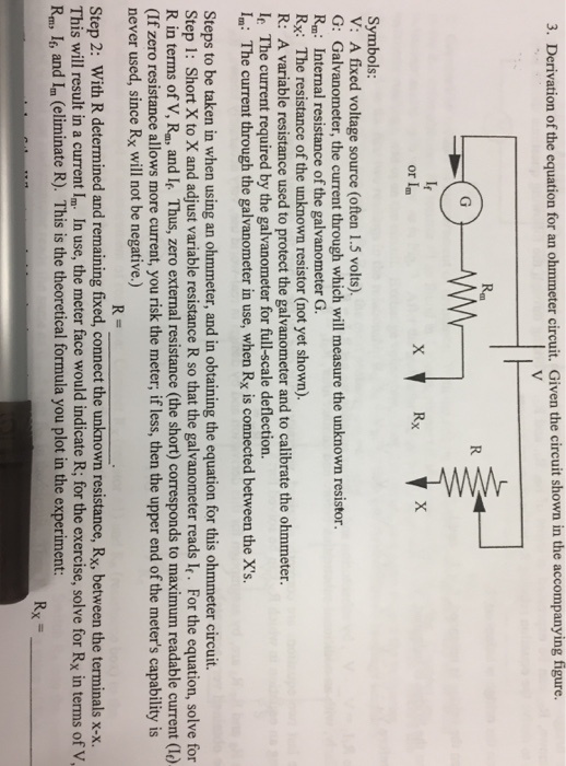 Phenomenal Solved 3 Derivation Of The Equation For An Ohmmeter Circ Wiring Cloud Rectuggs Outletorg