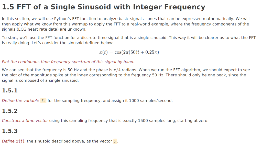 1 5 FFT Of A Single Sinusoid With Integer Frequenc