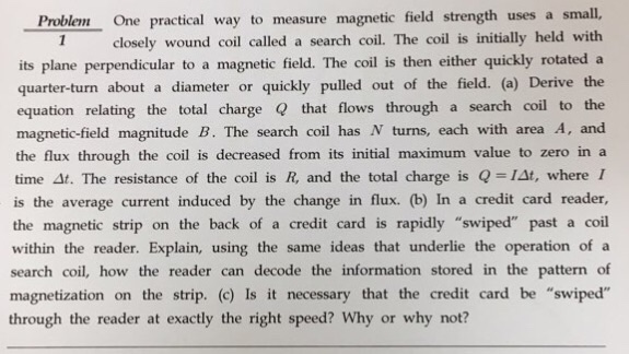 measuring magnetic field using a search coil