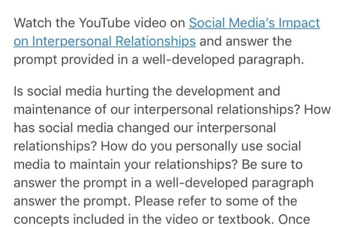 social media impact relationships