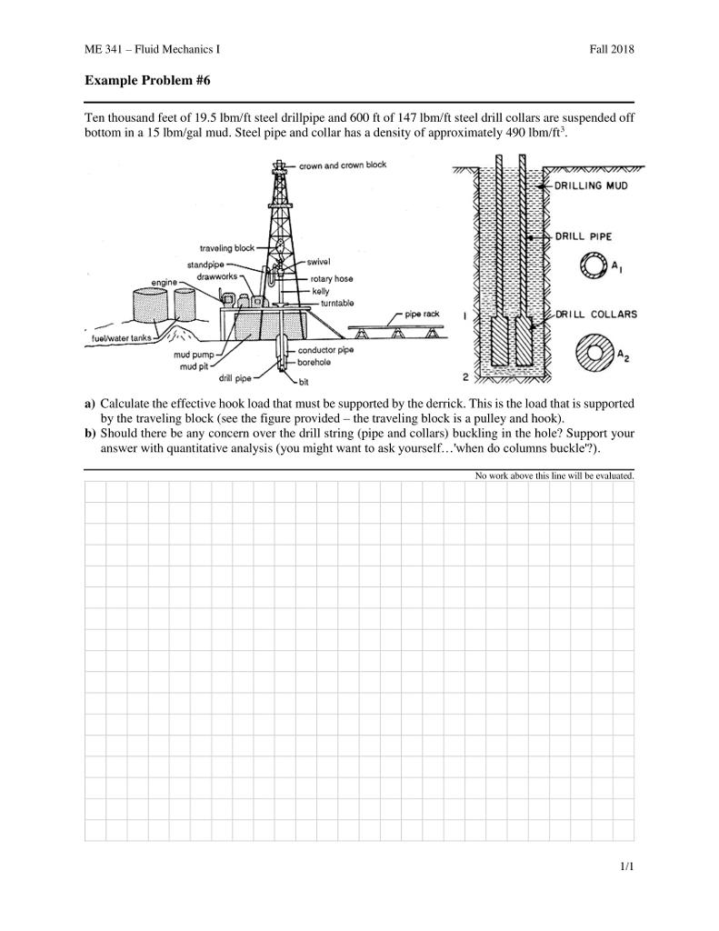 me 341-fluid mechanics l example problem #6 ten thousand feet of 19 5 ibm