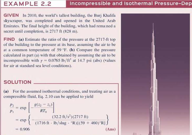 Solved: EXAMPLE 2 2 Incompressible And Isothermal Pressure