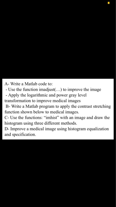 Solved: A- Write A Matlab Code To: - Use The Function Imad