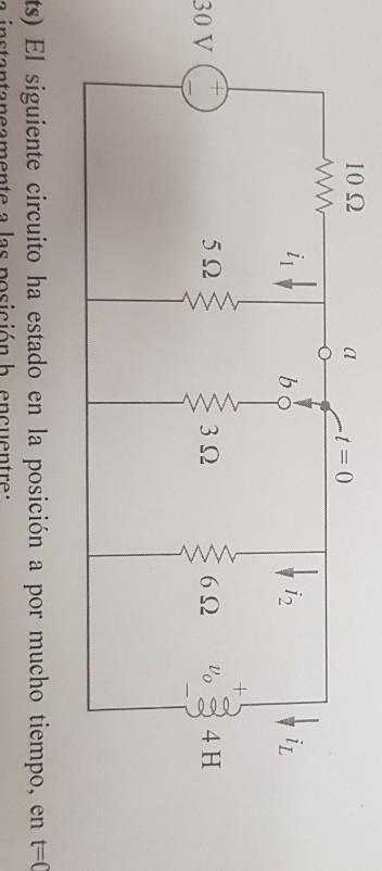 Circuito H : Solved find a il b il for tu e c i t for tu e chegg