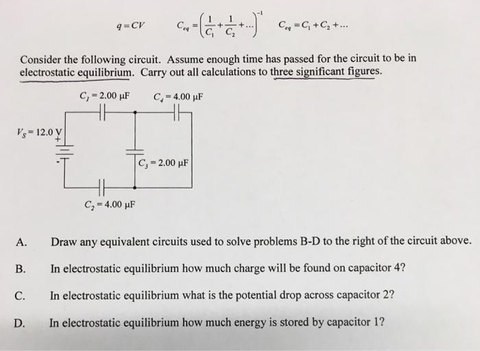 solved  q   cv c eq    1  c 1   1  c 2