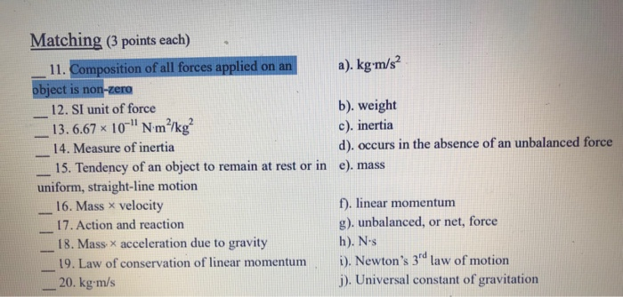 Composition Of All Forces Applied On An A