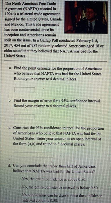 Solved The North American Free Trade Agreement Nafta En