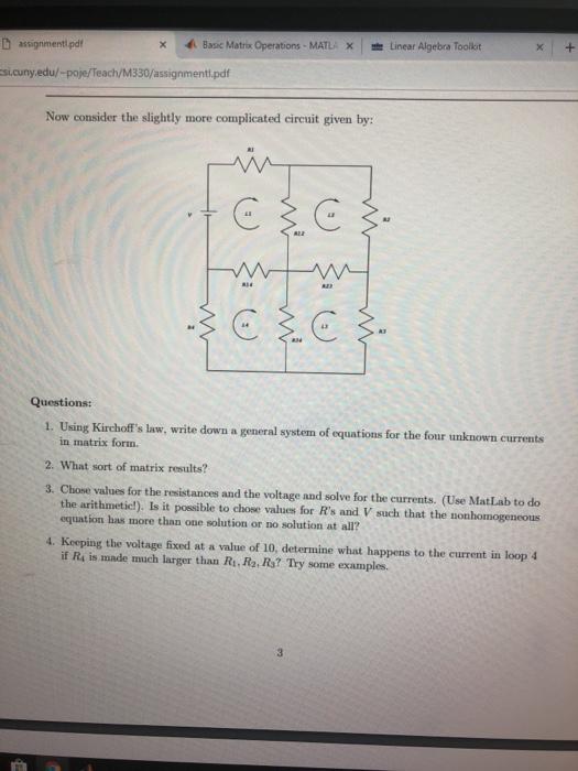 Solved: 4  Basic Matro Operations  MATLA = Linear Algebra