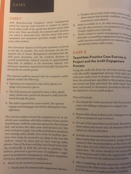 CASES 2  Prepare One Or More Well-written Observat