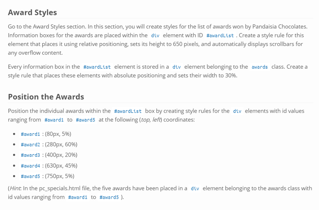 Solved: Award Styles Go To The Award Styles Section  In Th