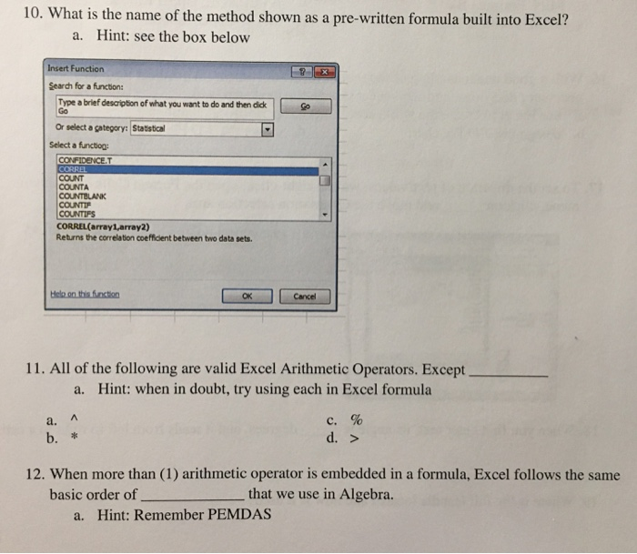 What Is The Name Of Method Shown As A Pre Written Formula