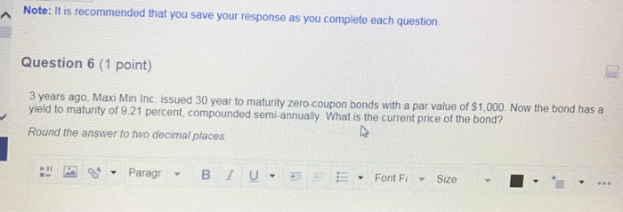 A Note It Is Recommended That You Save Your Respons As You Complete Each Question 3 Years Ago Maxi Min