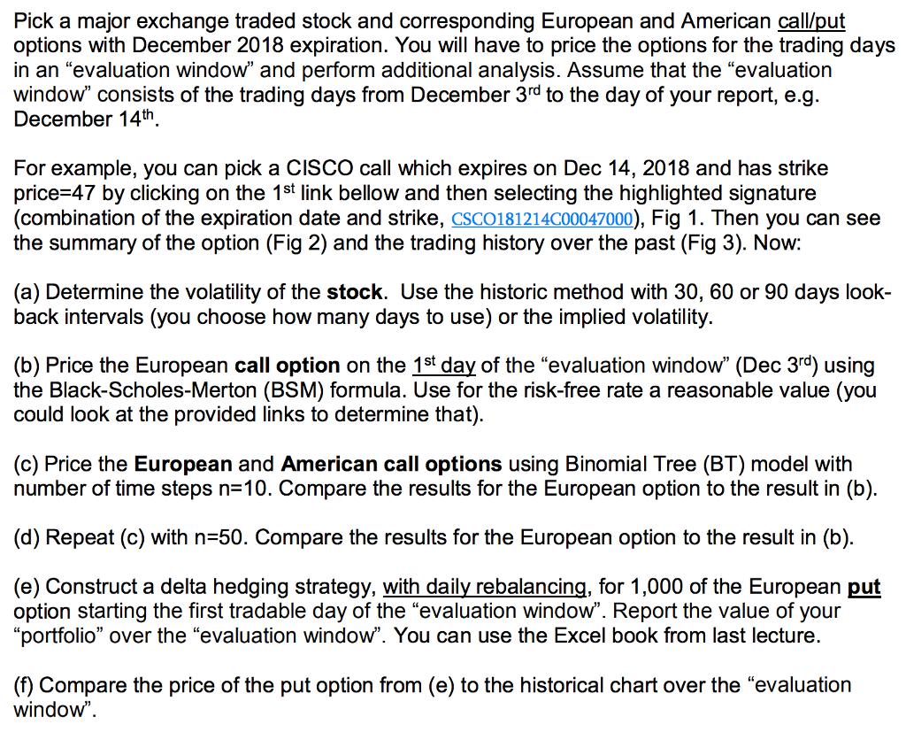 Pick A Major Exchange Traded Stock And Correspondi