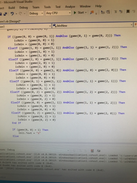 Solved: I Have To Create A Visual Basic Program That Does