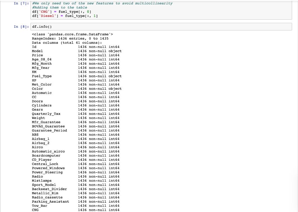 Coding Language Is Python // The Original Dataset    | Chegg com