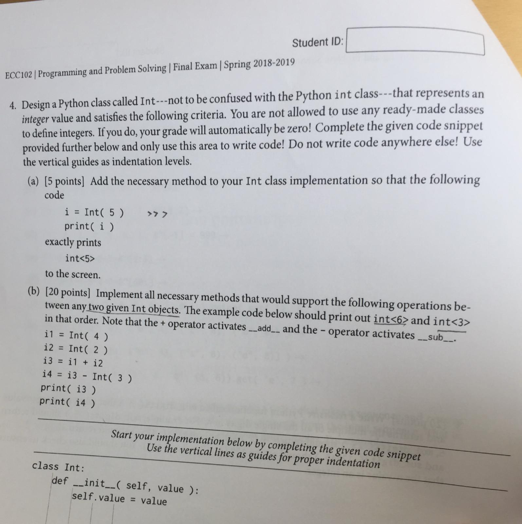 Solved: Student ID: ECC102 Programming And Problem Solving