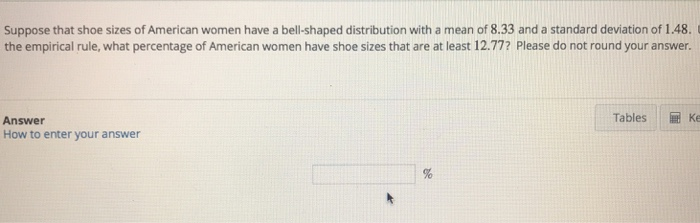 What Does C D Mean In Shoe Size.Solved Suppose That Shoe Sizes Of American Women Have A B
