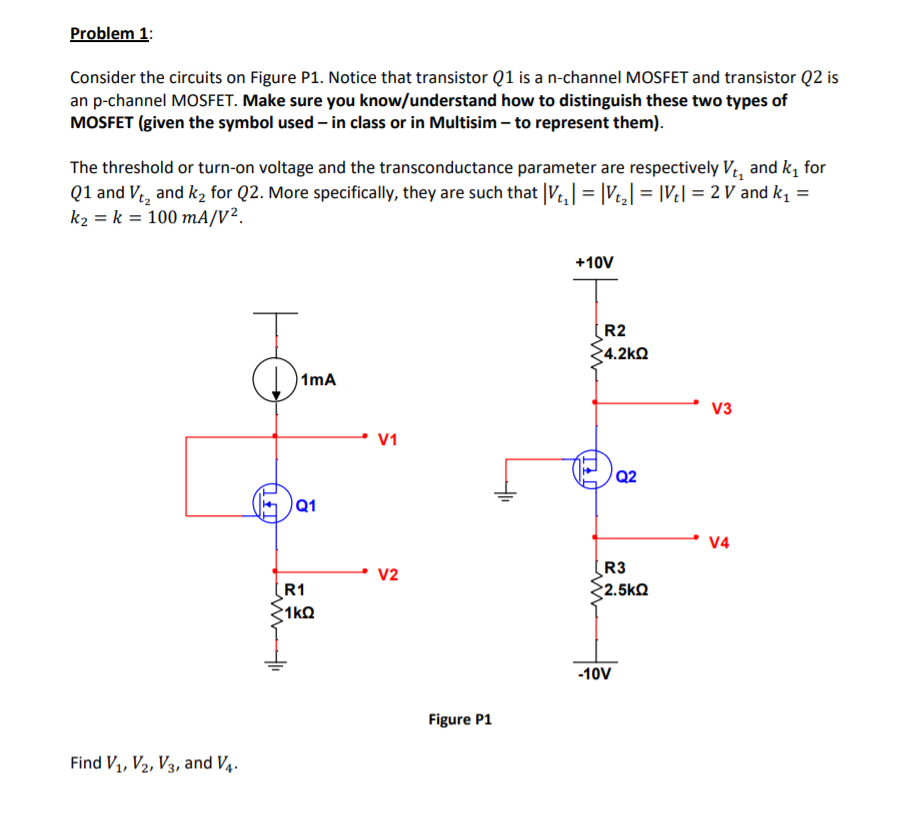 Solved: Problem1 Consider The Circuits On Figure P1  Notic