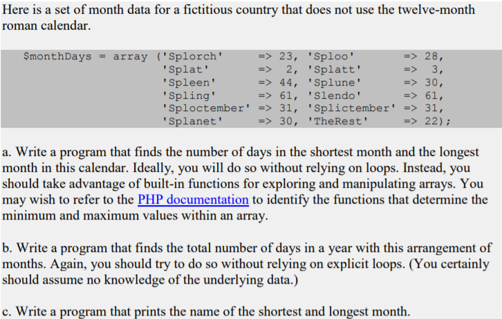 Roman Calendar.Solved Here Is A Set Of Month Data For A Fictitious Count
