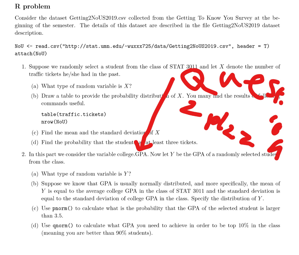Solved: R Problem Consider The Dataset Getting2NoUS2019.cs... | Chegg.com