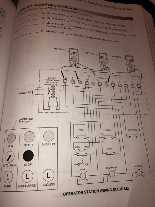 Solved: Motor Control Circuis N Wiring Diagram, Answer The ... on