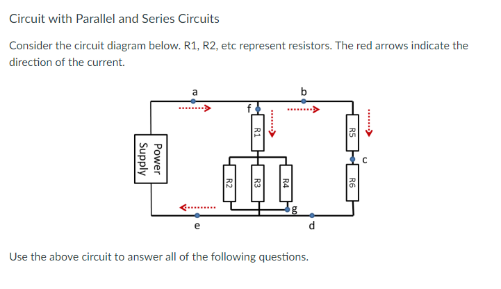 circuit with parallel and series circuits consider the circuit diagram  below  r1, r2, the current