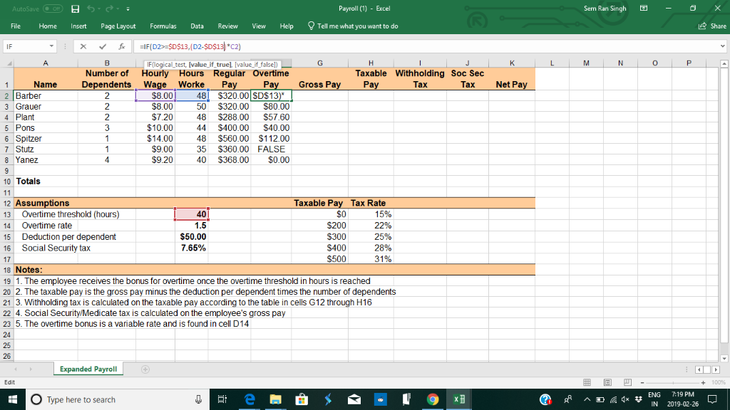 Solved: I Don't Know How To Find Things Using Excel Formul
